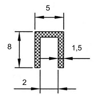 gummiprofile f r bleche fassungsprofil. Black Bedroom Furniture Sets. Home Design Ideas